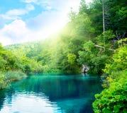 Green water lake Stock Photo