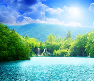 Green water lake Stock Photography