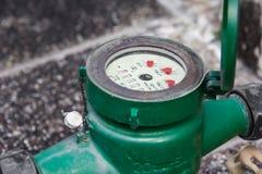 Green  Water meter Stock Photos