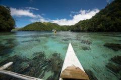 Green water reef Stock Photos