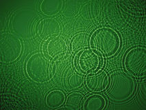 Green water ripple. On green background Stock Images
