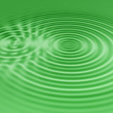 Green water ripples Stock Photography
