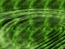 Green water with ripples. Stock Photos