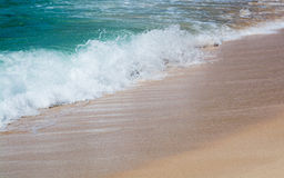 Green water and seaspray Stock Photography