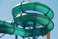Green Water Slide Stock Image