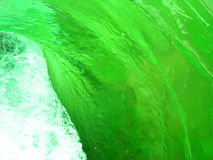 Green water swirl Stock Photos