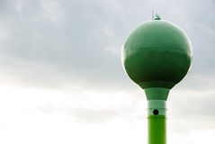 Green water tower Stock Photos