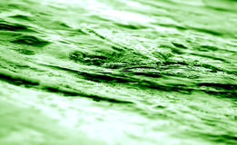 Green water twirling - abstract Royalty Free Stock Photo