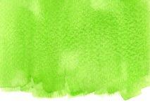 Green watercolor Stock Image