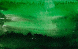 Green watercolor abstraction Royalty Free Stock Images