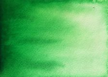 Green watercolor background royalty free stock photography