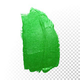 Green watercolor brush abstract stroke. Vector oil paint. Polish smear Royalty Free Stock Image