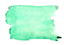 Green watercolor brush strokes Stock Photos