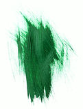 Green watercolor brush strokes Royalty Free Stock Photography