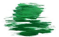 Green watercolor brush strokes Royalty Free Stock Photos