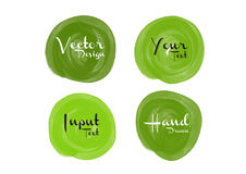 Green watercolor circle paint, icon design Royalty Free Stock Photos