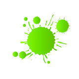Green watercolor paint drops Royalty Free Stock Photography