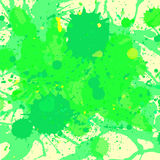 Green watercolor paint splashes background Royalty Free Stock Images