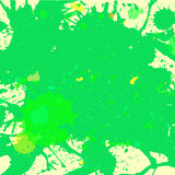 Green watercolor paint splashes background Royalty Free Stock Photo