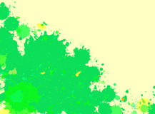 Green watercolor paint splashes frame Stock Photos