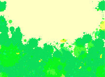 Green watercolor paint splashes frame Royalty Free Stock Image