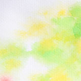 Green watercolor painted on paper. royalty free stock photo