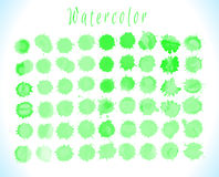 Green watercolor splashes vector Royalty Free Stock Photos