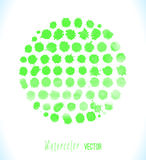 Green watercolor splashes vector Royalty Free Stock Image