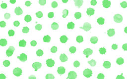 Green watercolor splashes vector Royalty Free Stock Images