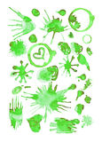Green watercolor splashes vector Royalty Free Stock Photo