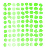 Green watercolor splashes vector Stock Photography