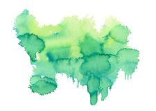 Green Watercolor spot stock images