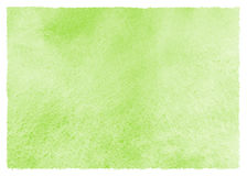 Green watercolor spring, Easter background with artistic edges Stock Image