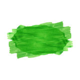 Green watercolor stripe Royalty Free Stock Photo