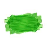 Green watercolor stripe Royalty Free Stock Photo
