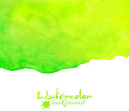 Green watercolor vector background Royalty Free Stock Photos