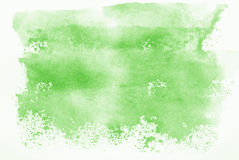 Green Watercolour. Green hand painted watercolour background stock images