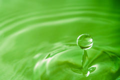 Green waterdrop Stock Photo