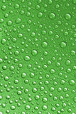 Green Waterdrops From Above Stock Images