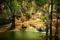 Green waterfall Stock Photography