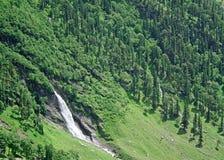 Green waterfall. HImalayan region waterfalls in scenic Kullu Valley region of Himachal India Royalty Free Stock Photography