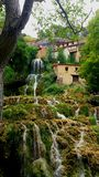 Green waterfall in Spain royalty free stock photos