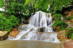 Green Waterfall With Name Lucky, Slovakia Stock Photography