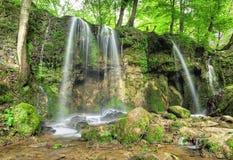 Green waterfalls spring in Slovakia Royalty Free Stock Photo