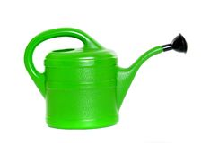 Green watering can Stock Photo