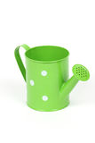 Green watering can stock photography