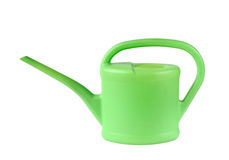 Green watering-can Stock Image
