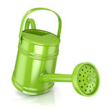 Green watering can Stock Image
