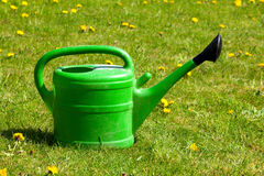 Green watering can Royalty Free Stock Photos
