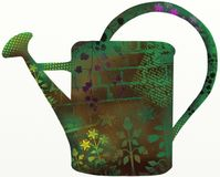 Green Watering Can stock illustration